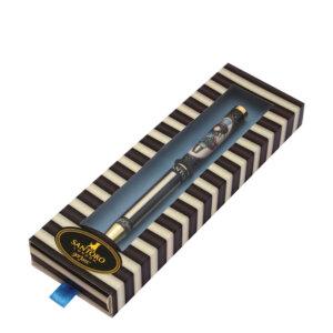 Santoro Gorjuss 506GJ04 classic stripe μεταλλικό στυλό σε κουτί The Hatter