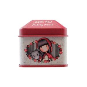 Santoro Gorjuss Μεταλλικό Κουτάκι με Ρολό Αυτοκόλλητα 'Little Red Riding Hood' ' 824GJ03