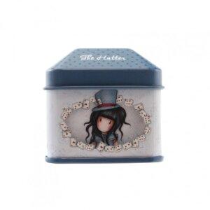 Santoro Gorjuss Μεταλλικό Κουτάκι με Ρολό Αυτοκόλλητα 'The Hatter' 824GJ04
