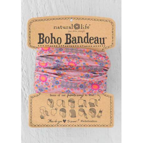 Pink Flower Stamp Boho Bandeau NL-55247