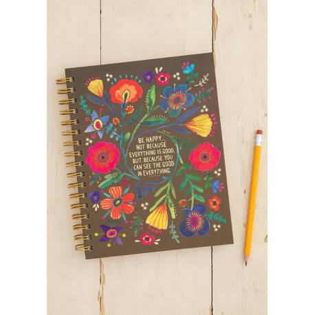 Natural Life - Be Happy Because Spiral Notebook NL-56172