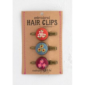 Natural Life - Κεντημένα Hair Clips Σετ - Pink NL-56245