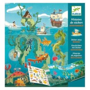 Djeco Δημιουργώ ιστορίες με 50 αυτοκόλλητα 'Περιπέτειες στη θάλασσα' Κωδικός: 08953