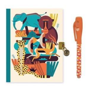 Djeco Ημερολόγιο με κλειδαριά και μαγικό μαρκαδόρο 'Ζώα Δάσους' Κωδικός: 03614