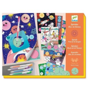 Djeco Σχεδιάζω και χρωματίζω με σπιράλ 'Μπλοκ 10 θέματα - 30 σελίδες' Κωδικός: 08736
