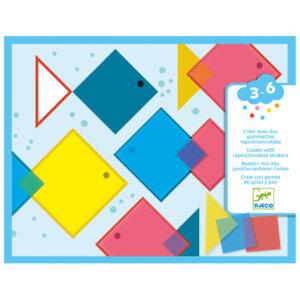 Djeco κολάζ με αυτοκόλλητα επαναχρησιμοποιούμενα τετράγωνα 'Χρώματα -... Κωδικός: 08975
