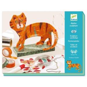 Djeco Κατασκευή με αυτοκόλλητα, σύρμα και ταινίες 'Τίγρης σε βάση' Κωδικός: 09345