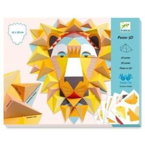 Djeco Κατασκευάζω με χαρτί τρισδιάστατο 'Λιοντάρι' Κωδικός: 09447