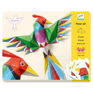 Djeco Κατασκευάζω με χαρτί τρισδιάστατα 'Πουλιά Αμαζονίου' Κωδικός: 09448