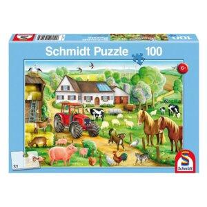 SCHMIDT PUZZLE - Χαρούμενη Φάρμα - Τμχ.100 S56003
