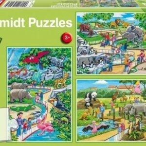 SCHMIDT PUZZLE - Μία ημέρα στο ζωολογικό κήπο - (3 x 24) S56218