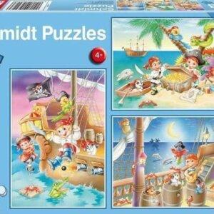 SCHMIDT PUZZLE - Πειρατές - Τμχ.(3 x 48) S56223