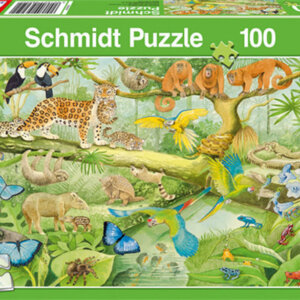 SCHMIDT PUZZLE - Ζώα στη Ζούγκλα - Τμχ.100 S56250