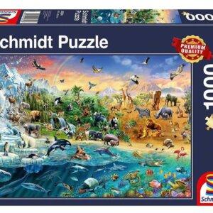 PUZZLE SCHMIDT - Ζωικό Βασίλειο - Τμχ.1000 S58324