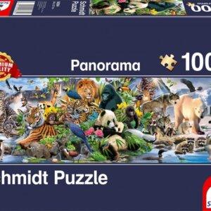 PUZZLE SCHMIDT - Πολύχρωμο Ζωικό Βασίλειο - Τμχ.1000 S58384