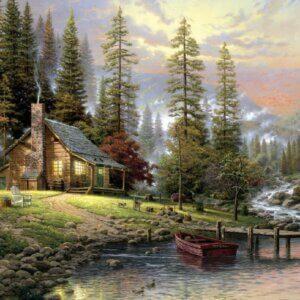 SCHMIDT PUZZLE -Σπίτι Δίπλα Στο Ποτάμι - Thomas Kinkade Τμχ.500 S58465