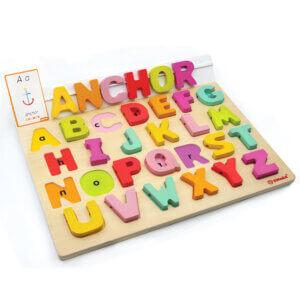 Svoora Αγγλικό Αλφάβητο οξιάς 'Η πρώτη επαφη με την Αγγλική γλώσσα'. Με 50... Κωδικός: 03001