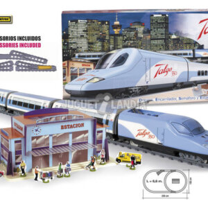 PEQUETREN Pequetren730 High Speed Talgo 350 Model Train with Station and Detours