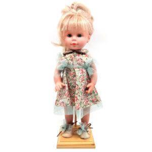 D'Nenes Κούκλα Βινυλίου 'Φόρεμα με λουλούδια' 34 εκ. Κωδικός: 022207