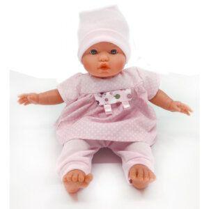 D'Nenes Κούκλα Μωρό Βινυλίου 'Ροζ Φόρεμα' 34 εκ. Κωδικός: 052125