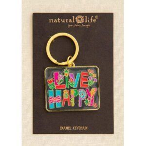 Natural Life - Μπρελόκ Σμάλτου LIVE HAPPY 55663