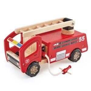 PinToy Ξύλινο 'Πυροσβεστικό όχημα', από μασίφ καουτσουκόδεντρο Κωδικός: 802814