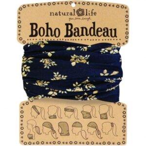 BLACK & CREAM FLORAL BOHO BANDEAU 35535