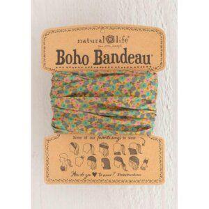 GREEN FLORAL BOHO BANDEAU® 56587