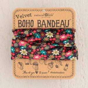 PINK FLORAL VELVET BOHO BANDEAU® 56800