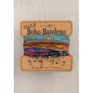 NAVY FLORAL BORDER HALF BOHO BANDEAU® 56802