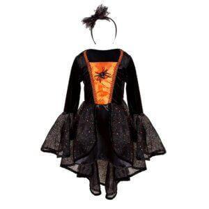 Great Pretenders Στολή μαύρη-πορτοκαλί με αράχνη 'Μάγισσα' 7-8
