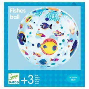 Djeco Μπάλα 'Ψαράκια' 35εκ.για την θάλασσα και την εξοχή Κωδικός: 00170