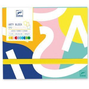 Djeco Μπλοκ ζωγραφικής με φάκελο με 30 Χρωματιστές σελίδες Κωδικός: 08788