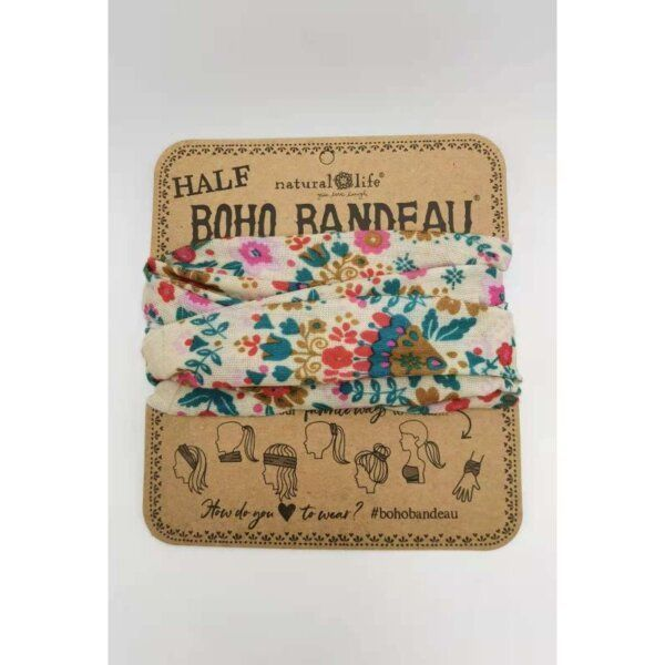 Half Bandeau Cream Floral Mandala - NATURAL LIFE - 58934