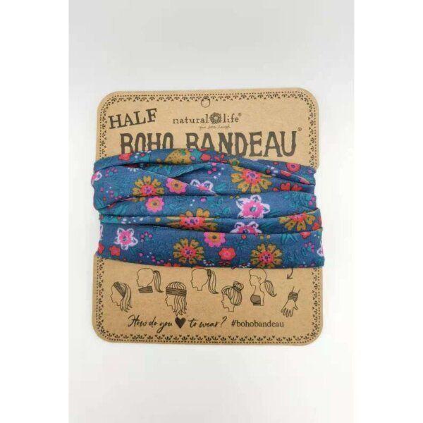 Half Bandeau Indigo Floral Mandala - NATURAL LIFE - 58935