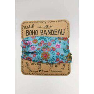 Half Bandeau Lt Blue Floral Mandala - NATURAL LIFE - 58936