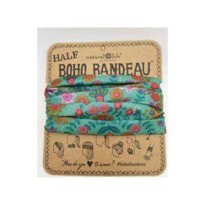 Half Bandeau Green Floral Mandala - NATURAL LIFE - 58937