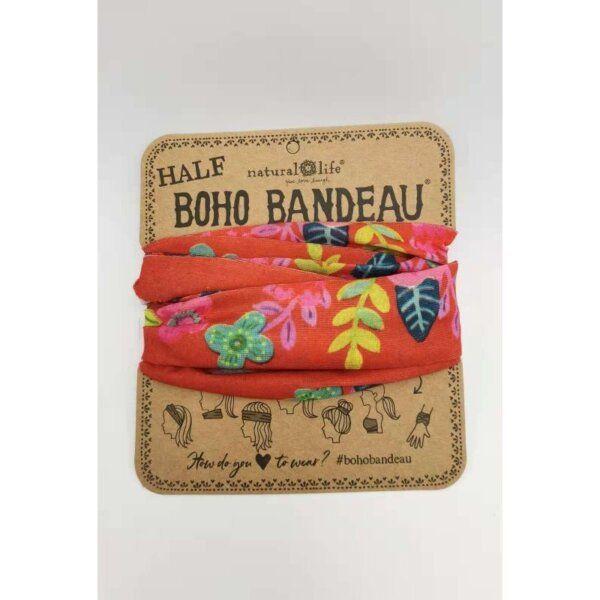 Half Bandeau Red Floral - NATURAL LIFE - 58938