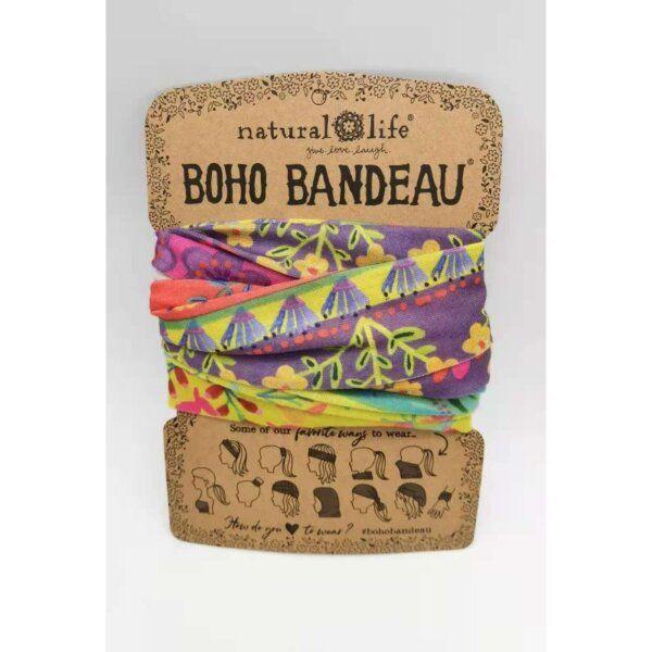 Boho Bandeau Lime/Purple Borders - NATURAL LIFE 58939