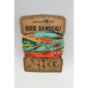 Boho Bandeau Orange/Green Borders - NATURAL LIFE - 58940
