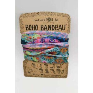 Boho Bandeau Blue/Pink Borders - NATURAL LIFE 58941