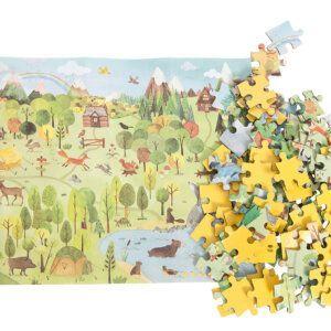 moulin roty 712410 Παζλ Δάσος 96 τμχ σε κύλινδρο