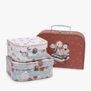 Moulin Roty Apres La Pluie Suitcase Set (Σετ από 3 Βαλιτσάκια)