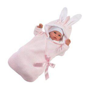 63636 Llorens Κούκλα Newborn σε sleeping bag 36cm