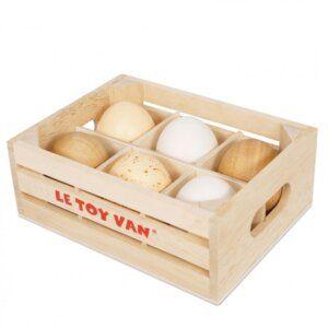 Ξύλινο Καφάσι Με Αυγά 6 Τεμάχια, Le Toy Van TV190