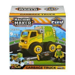 """MACHINE MAKER – CITY SERVICE – Nikko – Garbage Truck - (8""""/20cm) (36/40043)"""