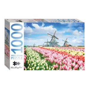 Dutch Windmills, Holland, Netherlands -Hinkler Puzzle 1000pcs -MJ-17