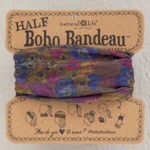 HALF BOHO BANDEAU GREY DUSTY FLORAL Κωδ. 54409