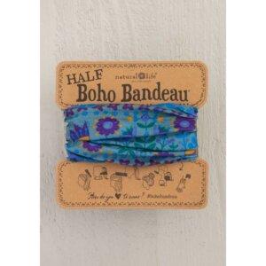 HALF BOHO BANDEAU BLUE FLORAL MANDALA Κωδ. 56758